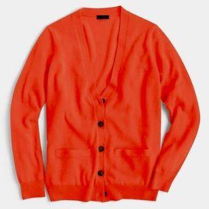 J. Crew boyfriend cardigan size small - orange